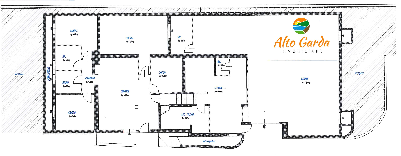 110 casa singola b b bolognano alto garda immobiliare for Planimetria casa 1200 piedi quadrati