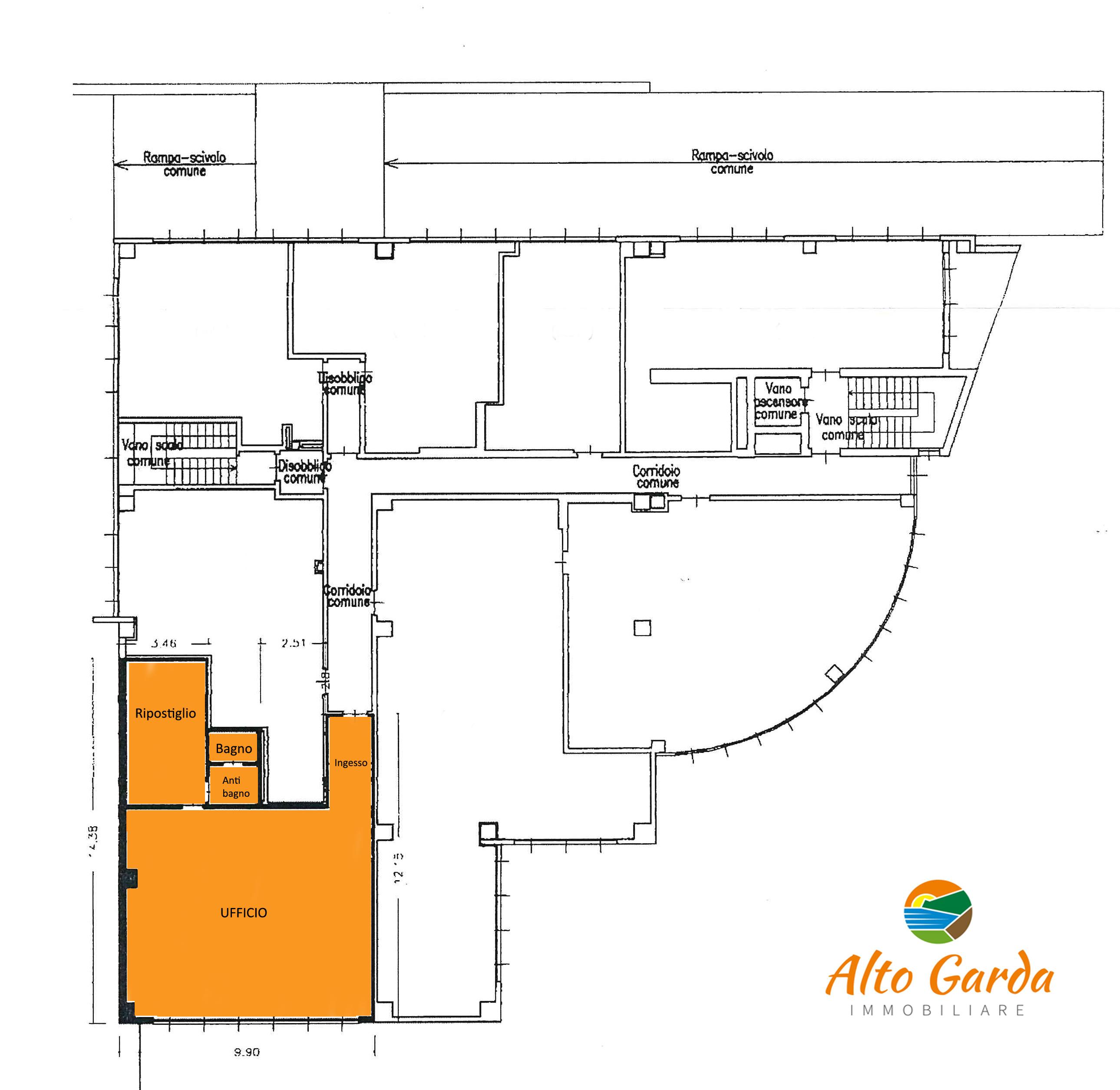 Planimetria-ufficio-Arco-Alto Garda Immobiliare