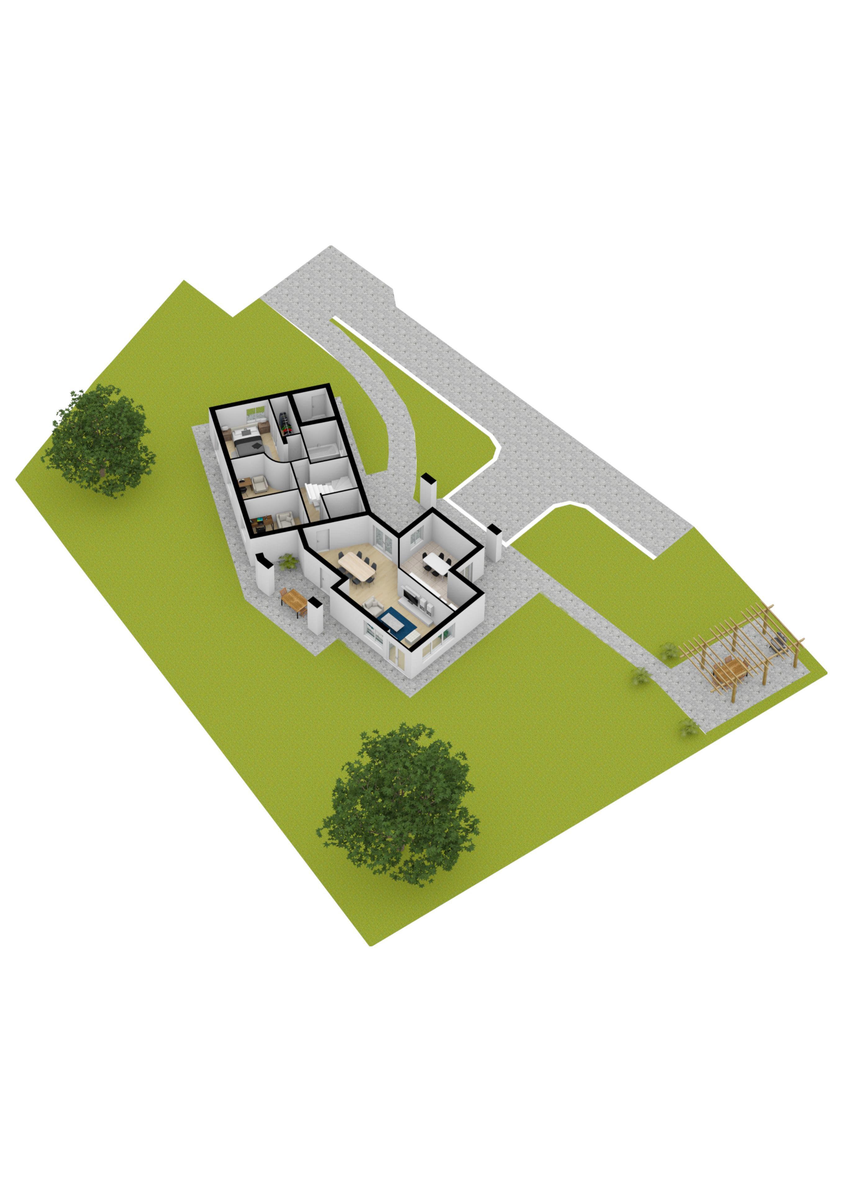 Vista dall'alto 3D-Alto Garda Immobiliare
